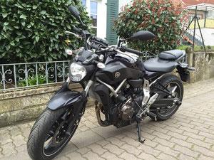 Yamaha MT07 gedrosselt