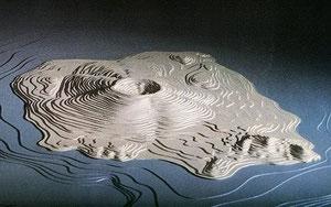 L'île de Théra et son volcan