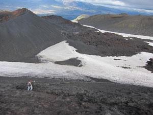 Aufstieg zum Krater des Eyjafjallajökull