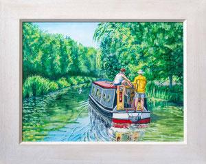 """""""Kicking Back""""   Acrylic  £175 16 x 12 inch plus frame width"""