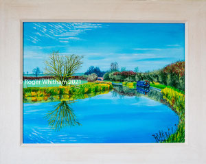 """""""Turning Point"""" Acrylic £175  50 x 40 cms approx outside frame measurement"""