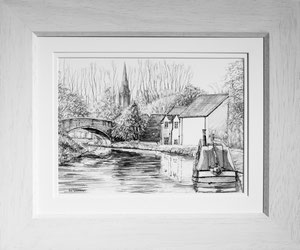 """""""Aston"""" £125  Carbon and Graphite  45.5 x 38 cms approx outside frame measurement"""