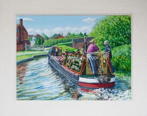 "Sold ""Bum Steer""  Acrylic £175  16 x 12 plus frame width"