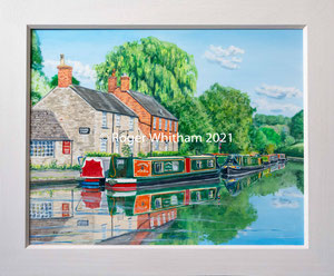 """Stoke Bruerne""  £1000 61 x 51 cms approx outside frame measurement"