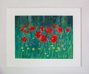 """""""The Glade""""  £350 Pastel 61 x 51 cms approx outside frame measurement"""