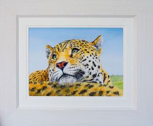 """Back rest"" £145  Pastel  45.5 x 38 cms approx outside frame measurement"