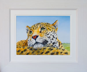 """Back rest"" £145  Pastel  45.5 x 38 cms approx outside frame measurement"