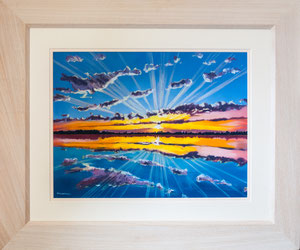 """Sunburst""  £350  Pastel  61 x 51 cms approx outside frame measurement"