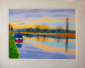 """""""Wide Berth"""" Acrylic  £150  50 x 40 cms approx outside frame measurement"""
