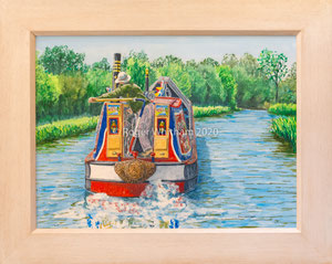 """""""Hard a Starboard"""" Acrylic £175 £150  50 x 40 cms approx outside frame measurement"""