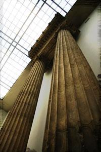ronde pleine cannelée : colonne antique