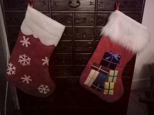 Des chaussettes de Noël pour recevoir beaucoup de cadeaux