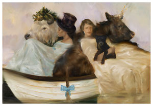 Dissent on the Missouri after Fur Traders Descending the Missouri by George Caleb Bingham, 2019, Öl auf Leinwand, 160 x 110 cm