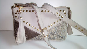 sac, cuir, artisanal, France, mode, dentelle