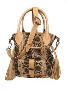 sac bourse en cuir serpent fabriqué en france, pièce unique, sac haut de gamme, made in France, par un artisan du cuir