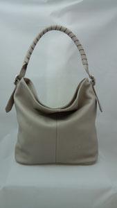 sac seau en cuir beige, tendance mode, fait-main, sac à main artisanal, made in France,