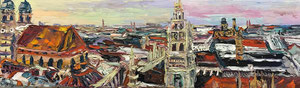 MÜNCHEN oil on canvas 8 x 23 inches  € AVAILABLE