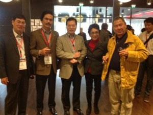 Avec son excellence Duong Chi Dung ambassadeur du Viet Nam en France (au milleu)