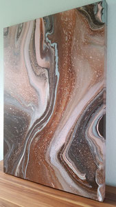 """""""Earth at open heart"""" Acryl auf Leinwand, 70 x 100 cm"""