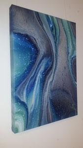"""Melting Glacier"" Acryl auf Leinwand, 50 x 70 cm"