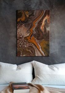 """Amber"" Acryl auf Leinwand, 50 x 70 cm"