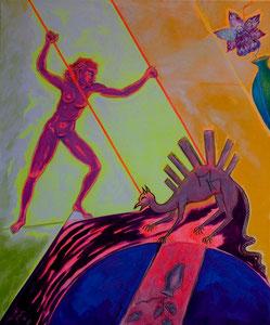 DIE HEILIGE GEORG - Öl auf Leinwand - 75 x 90 - (2010)