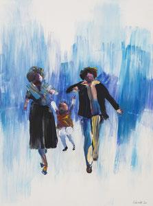 Alles Ist Gut (Engelchen fliegt), 30*40 cm, Acryl auf Leinwand, 2020