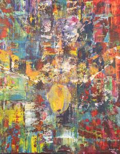 Alles Ist Gut (stürzt) 79*89 cm, Acryl auf Leinwand, 2020