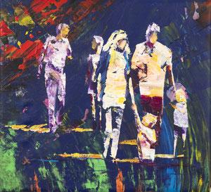 Alles Ist Gut (Familie I) 33*30 cm, Acryl auf Leinwand, 2020