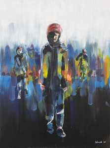Alles Ist Gut (Wanderer IV) 60*80 cm, Acryl auf Leinwand, 2020