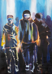 Alles Ist Gut (Wanderer II) 70*99 cm, Acryl auf Leinwand, 2020