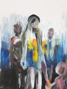 Alles Ist Gut (Familie III) 60*80 cm, Acryl auf Leinwand, 2020