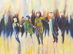 Alles Ist Gut (Kinder) 80*60 cm, Acryl auf Leinwand, 2020