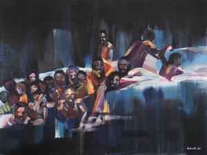 Alles Ist Gut (im Boot) 80*60 cm, Acryl auf Leinwand, 2020