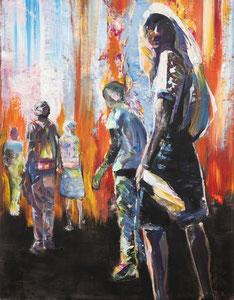 Alles Ist Gut (Wanderer III) 70*90 cm, Acryl auf Leinwand, 2020