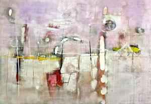 """""""Ai margini di un incontro"""", 2014  Tecnica mista, 141 x 99 cm"""