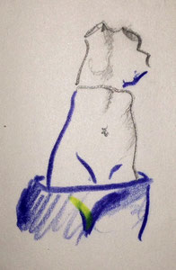 Skizze nach einem Bild von Margritte: eine Hülle in einer Hülle, innen hohl