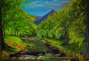 Metsa jõgi,   50*70,   220 eur