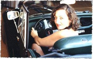 Al volante del Morgan. Cádiz, 1995 (fotografía de Manuel López Doña)