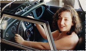 Al volante del Morgan , Cádiz, 1995 (fotografía de Manuel López Doña)
