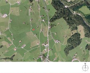 Wiederaufbu Scheune Stein: Situation (Quelle: Geoportal Appenzell Ausserhoden)