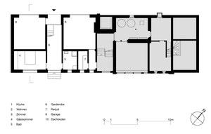 Wiederaufbu Scheune Stein: Erdgeschoss