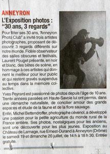 Dauphiné Libéré 18 juillet 2014 A voir, à faire
