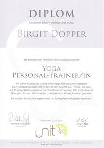 Diplom Yoga Personal-Trainerin