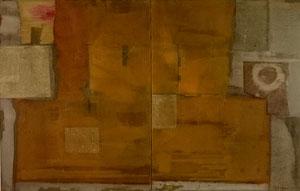 Ohne Titel, 2008, Mischtechnik auf Leinwand, 142 x 220 cm