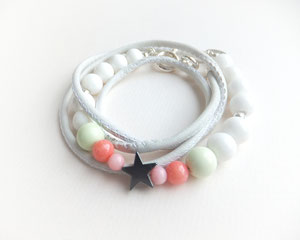 'POPPY STAR WHITE PEARL'  Armband