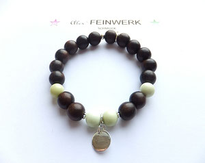 'WOOD LOVE' EBONY LIME   Armband