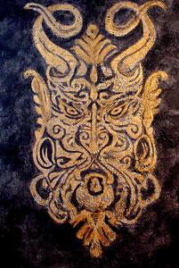 "16th Century Italian Mask  36"" x 48"""