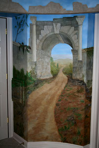 Roman Arch - Residential Commissioned Mural