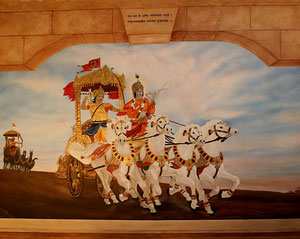 Krishna - Residential Commissioned Mural